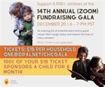 Sponsor a child for only $15 at Caring Hand for Children Gala December 20