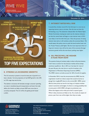 Commercial Real Estate Update 2014 Past and 2015 Projected