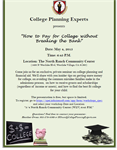 "College Plannings Experts Presents: ""How to Pay for College Without Breaking the Bank"""